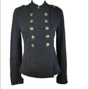 Express Black/ Gray  Military Jacket Sz Large L